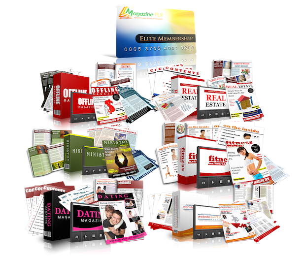 Magazine PLR Elite Monthly Membership (All 6 Niche Magazines)